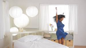 african american dancing in bedroom stock video footage