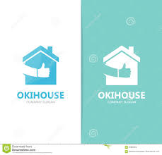 vector of real estate and like logo combination house and best