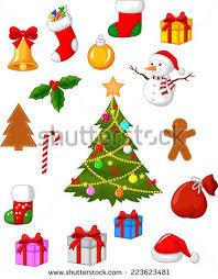 christmas accessories christmas accessories collection set stock vector 223623481