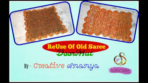 reuse of old saree best out of waste ideas door mat design