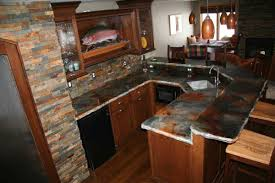 kitchen island bars bar style kitchen natural wood hues throughout this large kitchen