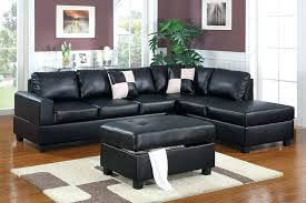 Cheap Black Ottoman Leather Reversible Sectional And Ottoman Black Leather