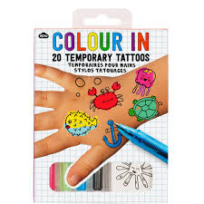 tattoo ideas birthdays colour in tattoos are great fun and your 8 year old is sure to love