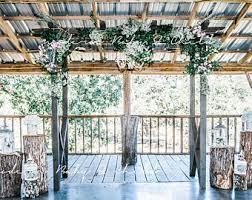 wedding arch log rustic wedding arch etsy