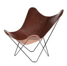 Leather Butterfly Chair Pampa Mariposa CUERO - Butterfly chair designer