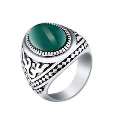 cool jewelry rings images Luxury gem stone signet rings antique silver metal finger ring for jpg