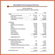 example of an income statement bio example