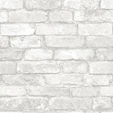 amazon com grey and white brick peel and stick wallpaper home