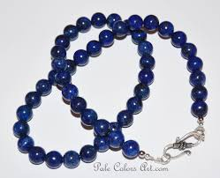 necklace with blue stone images 21lapis lazuli 10mm necklace blue beaded necklace blue stone jpg