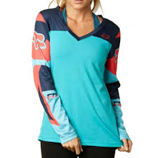motocross womens gear fox racing rize womens ladies casual long sleeve shirt jersey top