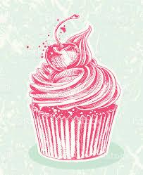 Cherry Cupcake Invitation Card Royalty Cherry Cupcake Drawing Stock Vector Art 165763048 Istock