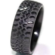 tire wedding ring black gold tire tread wedding bandunique by vidarjewelry