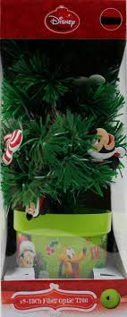 disney 18 inch mickey mouse fiber optic tree color