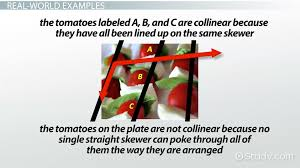 collinear points in geometry definition u0026 examples video