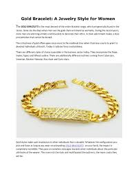 bracelet styles images Gold bracelet a jewelry style for women jpg