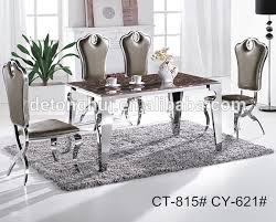 ct 802 y 611 dining room furniture marble top stainless steel