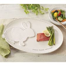 mud pie platter top stitched bunny platter mud pie