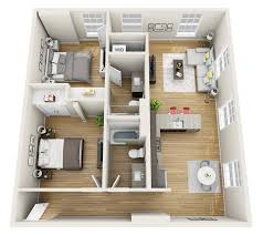 Two Bedroom Floor Plans One Bath Charming Two Bedroom One Bath Apartment Floor Plans Photo