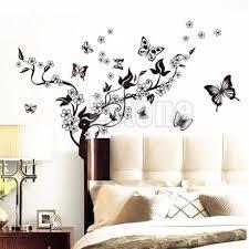 1 set butterfly flower wall art decal vinyl stickers home diy 1 set butterfly flower wall art decal vinyl stickers home diy decor mural removable y102 in wall stickers from home garden on aliexpress com alibaba