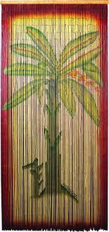 Bead Curtains For Doors Bamboo Door Bead Curtain With Banana Tree
