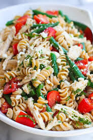 chicken pasta salad with green beans tomatoes u0026 feta cheese
