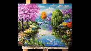 beautiful gardens and flowers acrylic painting youtube