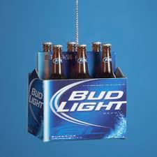 resin bud light 6 pack mini ornament budweiser ornament
