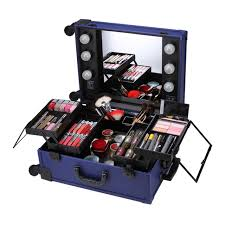 rolling makeup case with lighted mirror professional rolling makeup artist studio cosmetic case lights