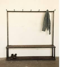 storage coat rack bench at strawser u0026 smith in brooklyn remodelista