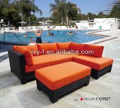 resort patio rattan modern l shape sofa terrace sofa set outdoor