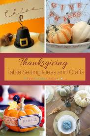 thanksgiving table setting ideas and crafts allfreeholidaycrafts