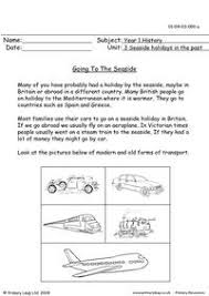 ideas collection seaside holidays in the past ks1 worksheets also