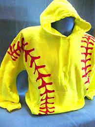 design jacket softball neon yellow red softball graphic design hoodie sweatshirt gildan 50