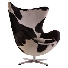 Modern Commercial Furniture by Arne Jacobsen Egg Chair Replica In Cowhide Modern Classics