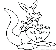 coloring page of a rat kangaroo coloring pages kangaroo color page kangaroo coloring page