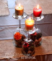 easy centerpieces and easy centerpieces from wine glasses and votive candles