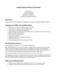 download audio test engineer sample resume haadyaooverbayresort com