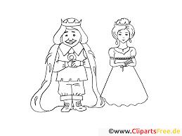 Reine roi dessin  Coloriage conte à télécharger  Fable coloriages