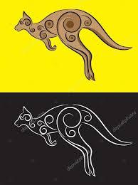 kangaroo ornament stock vector sumbajimartinus 61049247