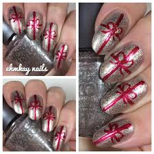 ehmkay nails morgan taylor wrapped in glamour gift wrap nail art