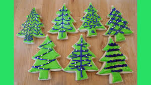 how to decorate christmas tree cookies 7 ways with jill youtube