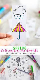 spring printable coloring page bookmarks kleinworth u0026 co