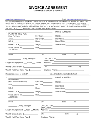 divorce forms 266 free templates in pdf word excel download child