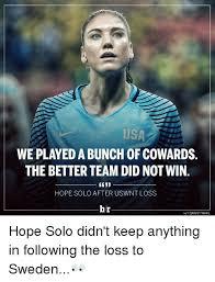Solo Memes - 25 best memes about hope solo hope solo memes