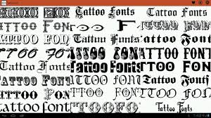 tattoo fonts ideas android apps on google play