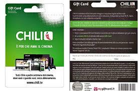 chili gift card come si acquista gift card chili e come si attiva
