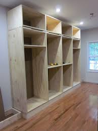 Closet Simple And Economical Solution Built In Closet Also Info On Applying Crown Molding Etc On