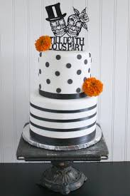 Halloween Wedding Cake by The Bride Wore Black At This Alternative Halloween Wedding