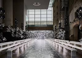 alexandre de betak bureau betak uses silver balloons for mary katrantzou show