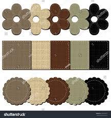 Leather Scrapbook Set Leather Scrapbook Objects Stock Vector 101063725 Shutterstock